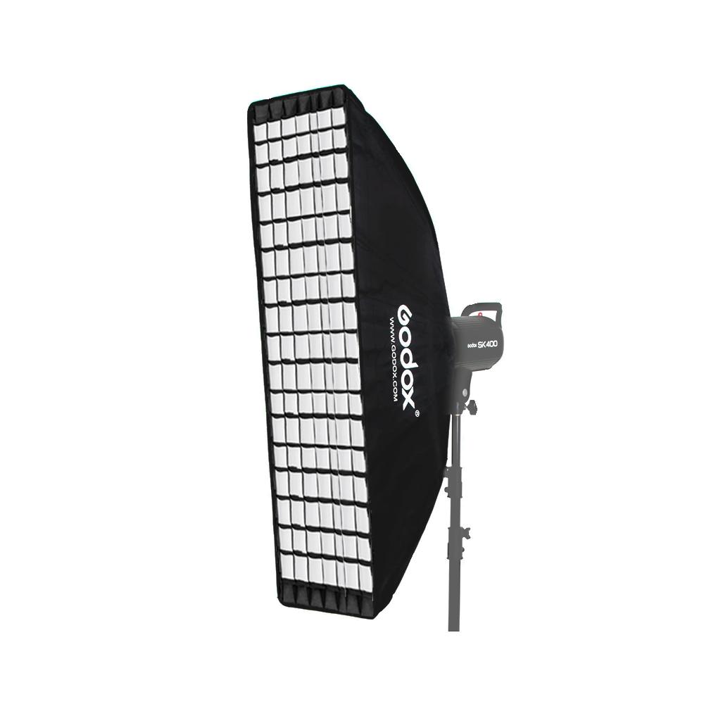 Softbox Godox 35x160cm com Encaixe Bowens e Grid para Flash de Estúdio  - Fotolux