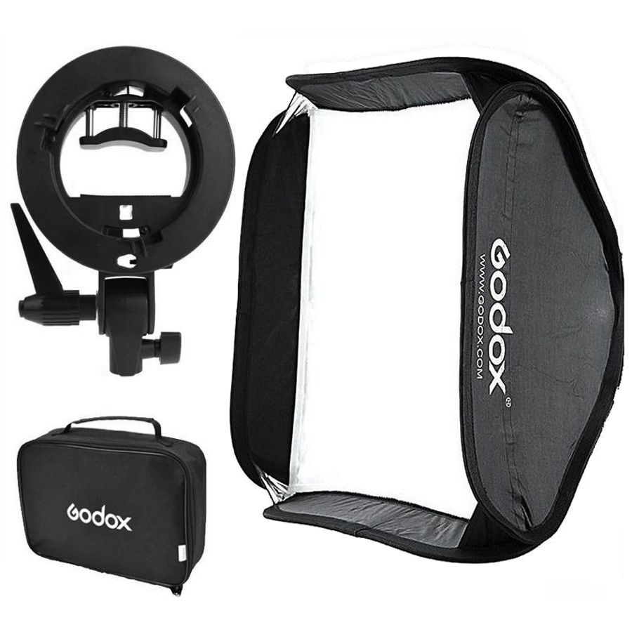Softbox Godox 80x80cm para Flash Speedlite de Câmera  - Fotolux