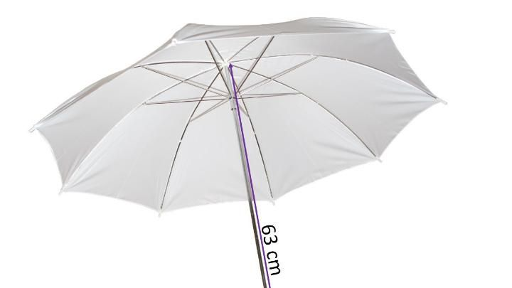 Sombrinha Difusora Suavizadora Branca 91cm para Fotografia  - Fotolux