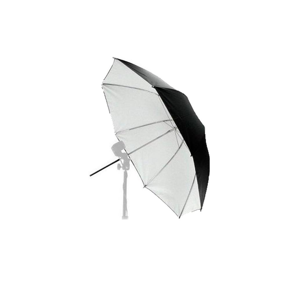 Sombrinha Greika White 84 Preta e Branca 84cm  - Fotolux