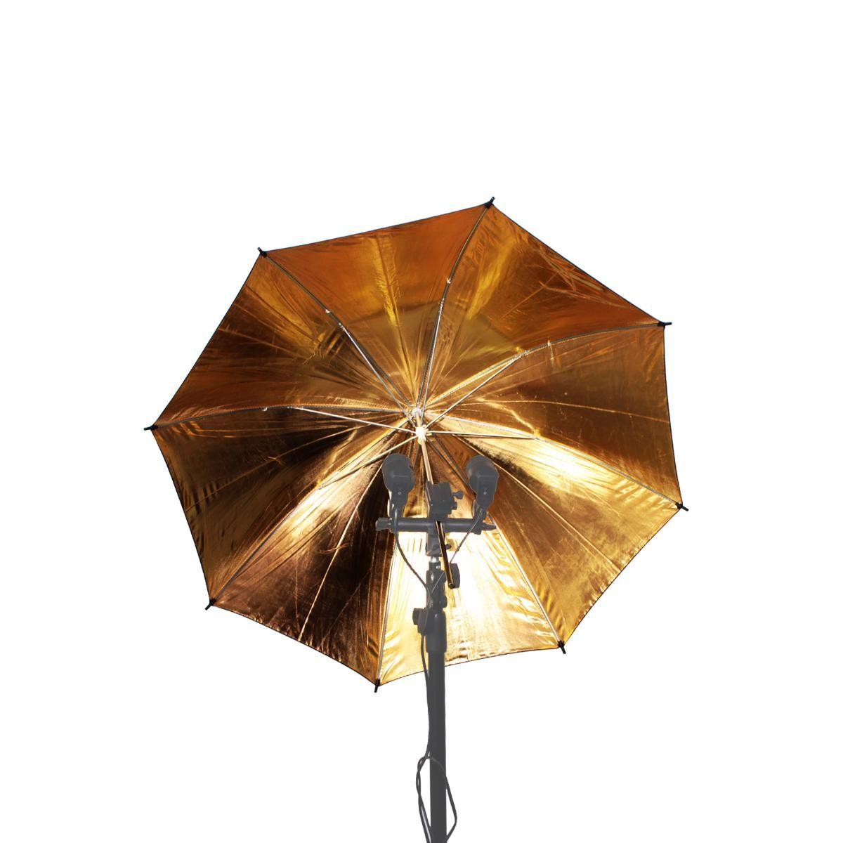 Sombrinha Refletora Dourada 33 com 85cm de Diâmetro para Fotografia