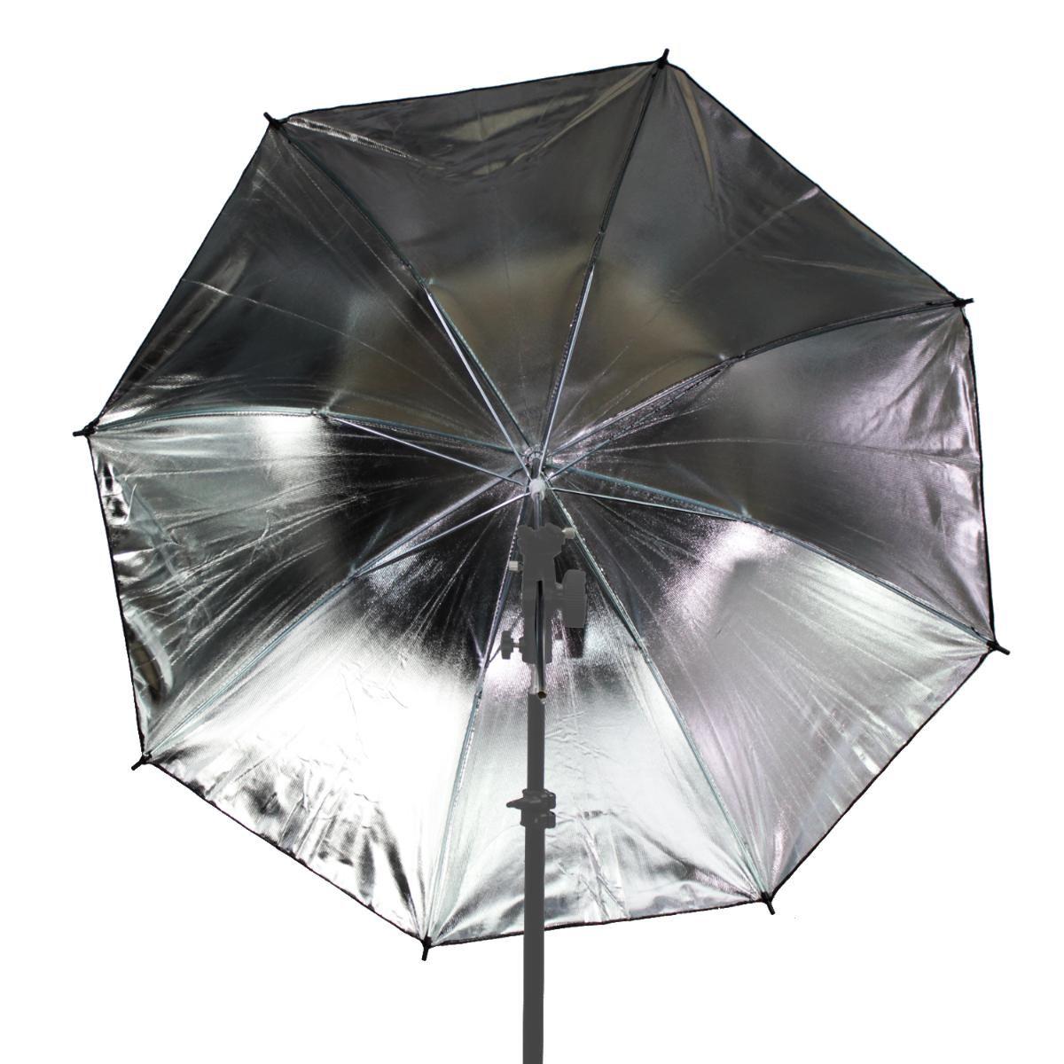 Sombrinha Refletora Greika YU302 com 91cm de Diâmetro Preta e Prata