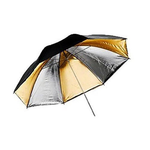 Sombrinha Refletora Preta, Prata E Dourada 91cm UR02 Greika