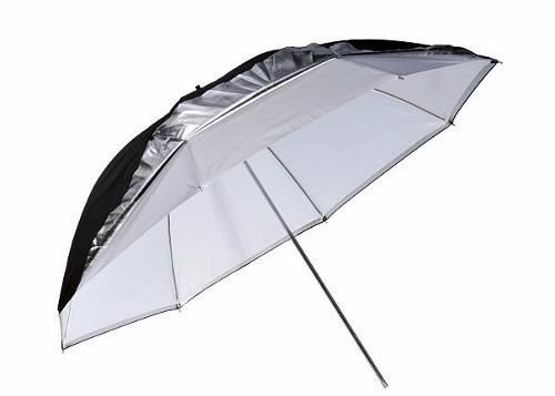 Sombrinha Refletora Removível Preta, Prata e Branca 84cm UR05 REM