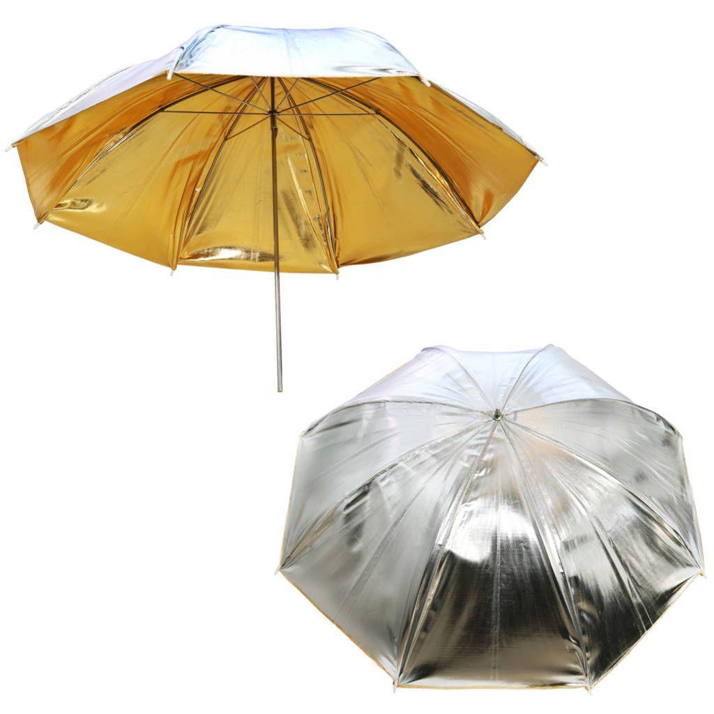 Sombrinha Refletora Reversível Prata e Dourada Greika YU-303 91cm