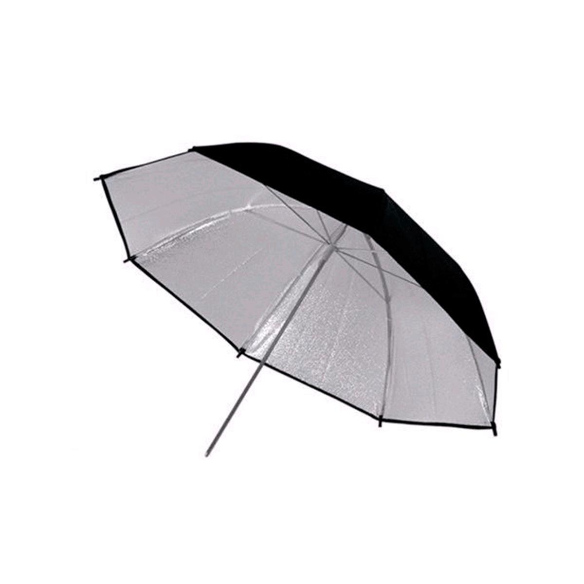 Sombrinha Refletora Reversível Preta, Prata e Branca 91cm Greika YU-303  - Fotolux