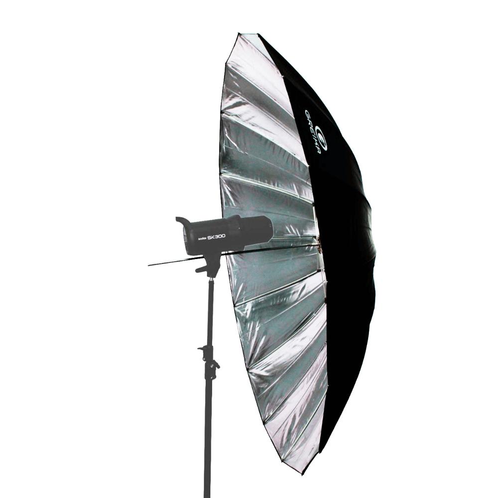 Sombrinha Softbox 150cm Greika RUS-150 com Difusor Branco para Estúdio de Fotografia  - Fotolux
