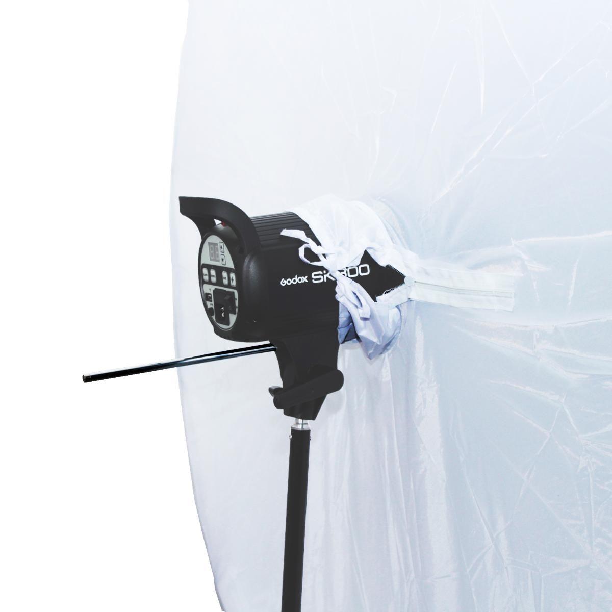 Sombrinha Softbox Greika RUS-150 com 150cm de Diâmetro - Branca