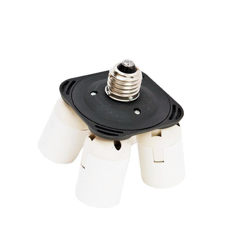 Soquete Quadriplicador para Suporte de 4 Lâmpadas E27 Sou Foto SQE-27  - Fotolux
