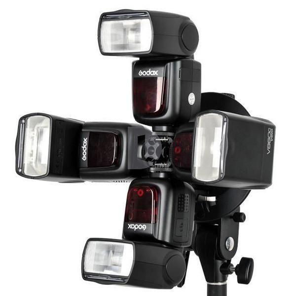 Suporte Adaptador Greika S-FA para uso de 4 Flashes Speedlite  - Fotolux