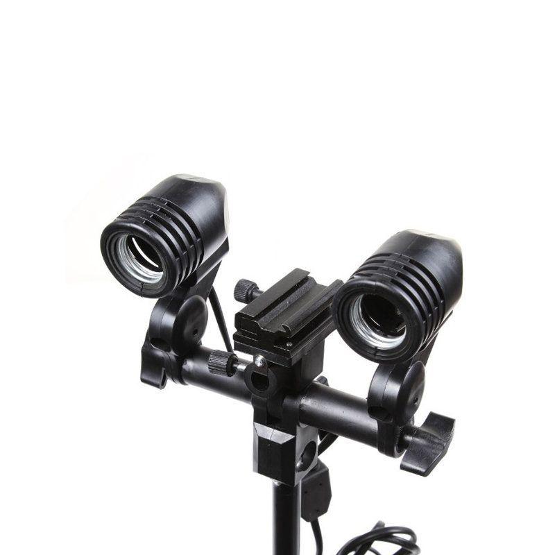 Suporte com Soquete Duplo E-27 Greika YL-104 para Iluminadores e Sombrinhas de Estúdio Fotográfico