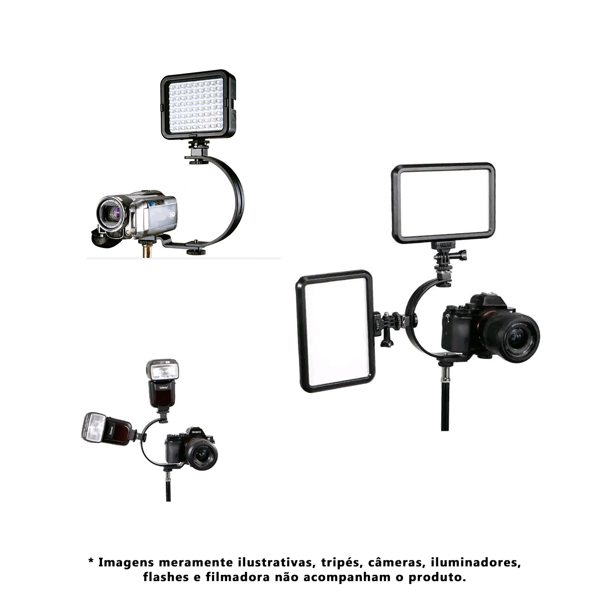 Suporte para Flash Tipo C para Câmeras DSLR C - Shaped  - Fotolux