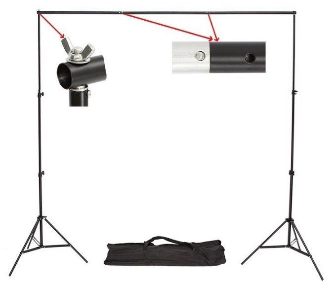 Suporte para Fundo Infinito Móvel YS-300 Greika com 3m de Largura e 3m de Altura para Estúdio Fotográfico