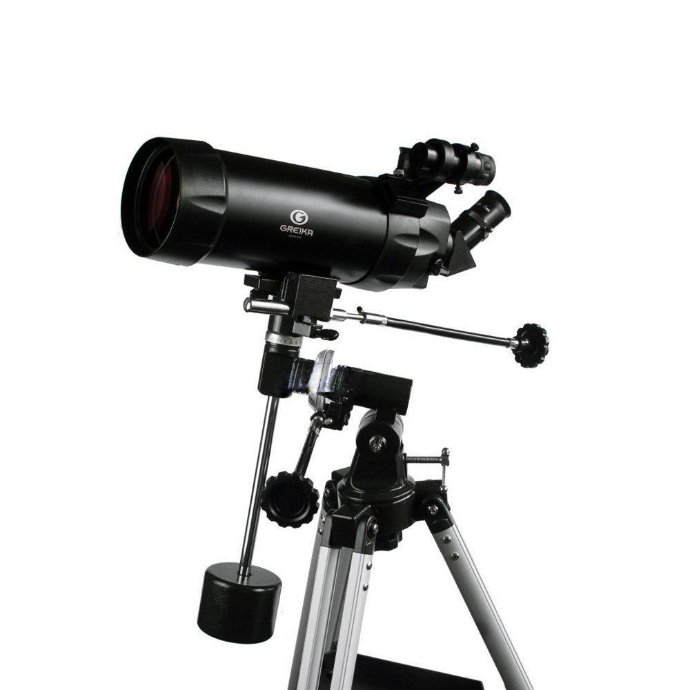 Telescópio Refletor Cassegrain Maksutov Equatorial 1200x90mm Greika com Tripé – MAK-90  - Fotolux