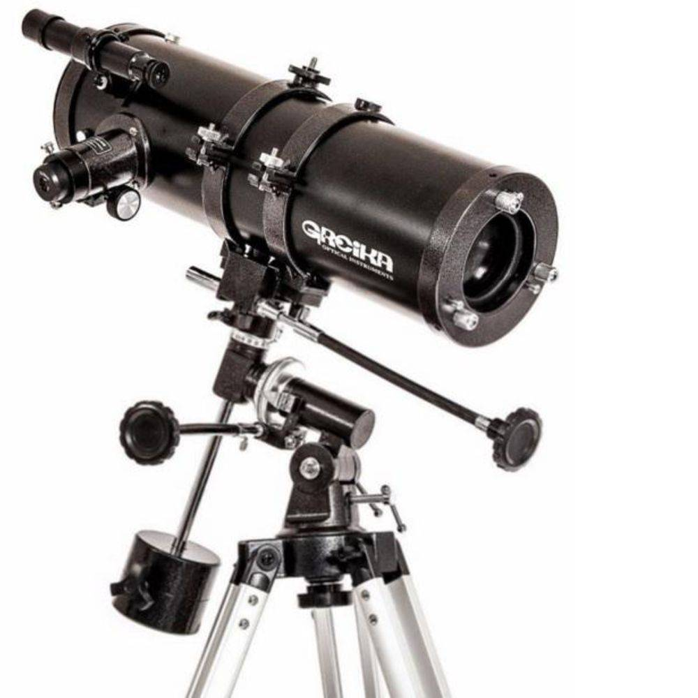 Telescópio Refletor Newtoniano Equatorial Greika 1400x150mm com Ampliação 1050x – 1400150-EQ