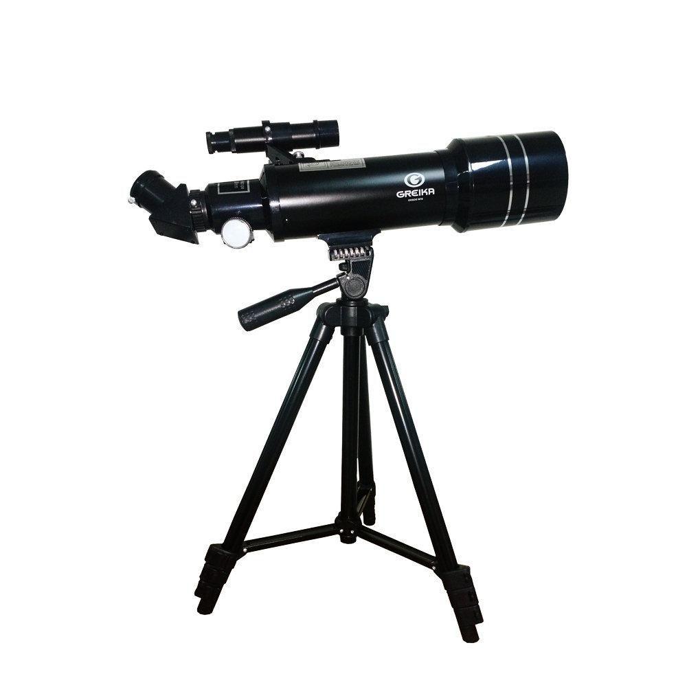 Telescópio Refrator Azimutal 400x70mm Greika 40070M