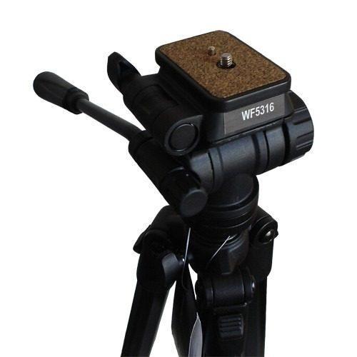Tripé de Câmera Cabeça Hidráulica 160cm Weifeng WF5316/WF3716H