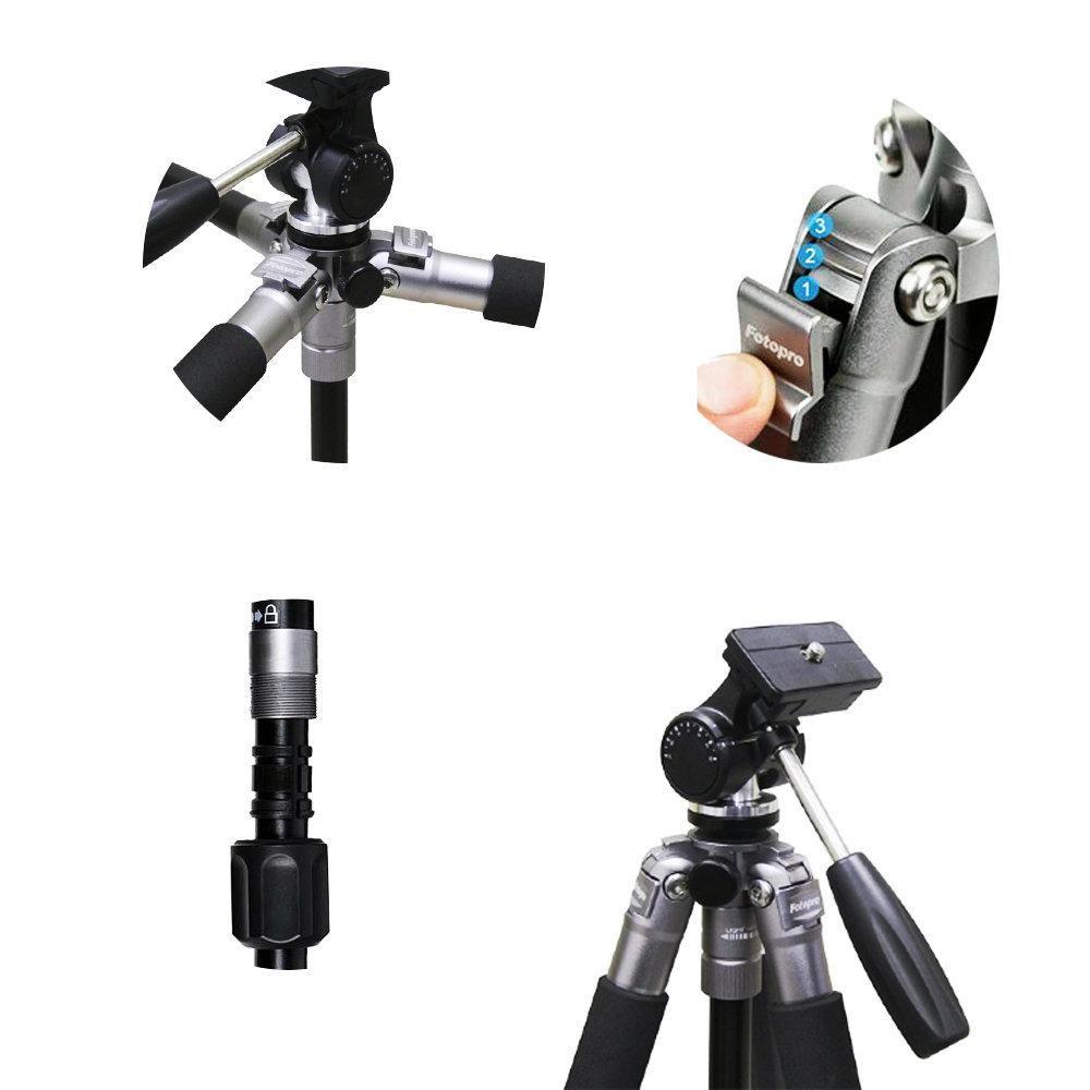 Tripé de Câmera Fotopro até 146cm para Foto e Vídeo – C4I FPH2W  - Fotolux