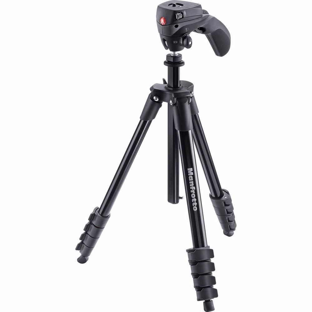 Tripé de Câmera Manfrotto Compact Action Black Mkcompactacn-bk 155cm