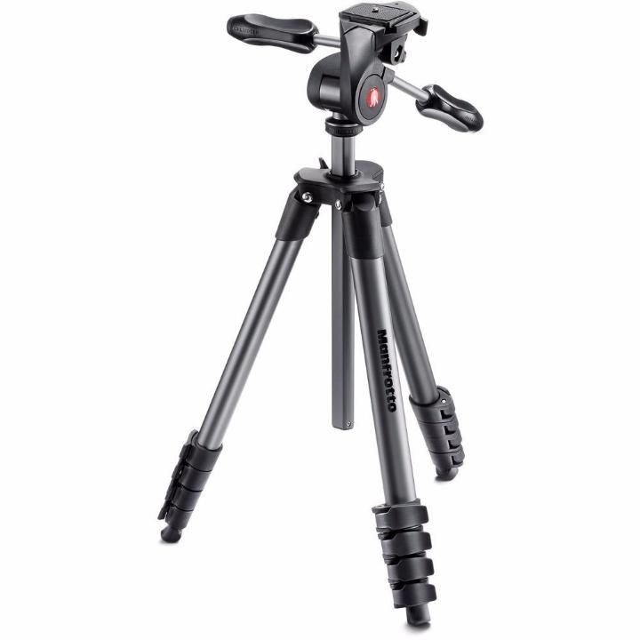 Tripé de Câmera Manfrotto Compact Advanced MKCOMPACTADV-BK 165cm
