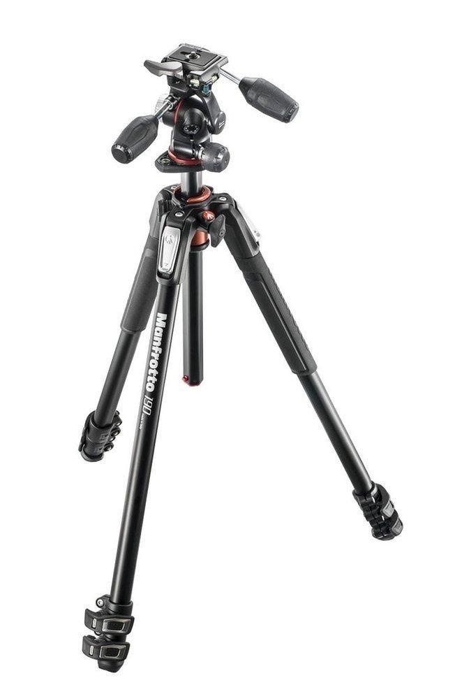 Tripé de Câmera Manfrotto MK190XPRO3-3W Alumínio 173cm