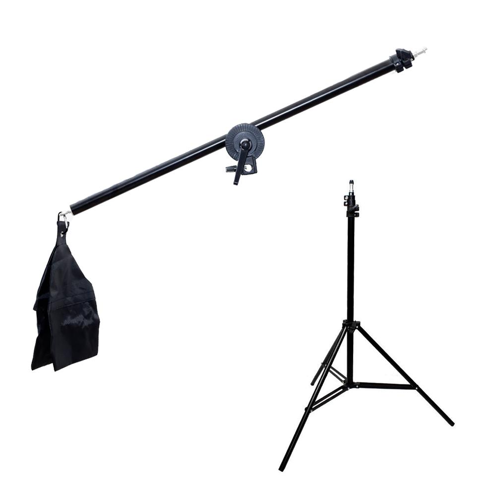 Tripé de Iluminação com Braço Articulado 140cm Sou Foto para Estúdios de Fotografia  - Fotolux