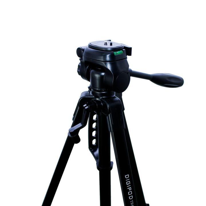 Tripé Digipod TR-462 157cm de Altura Cabeça 3 Vias para Câmeras e Filmadoras