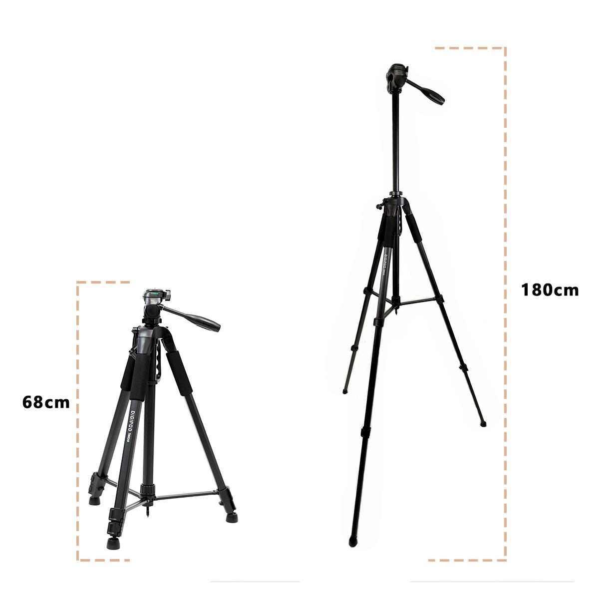 Tripé Digipod TR-682A 180cm para Câmera Fotográfica  - Fotolux