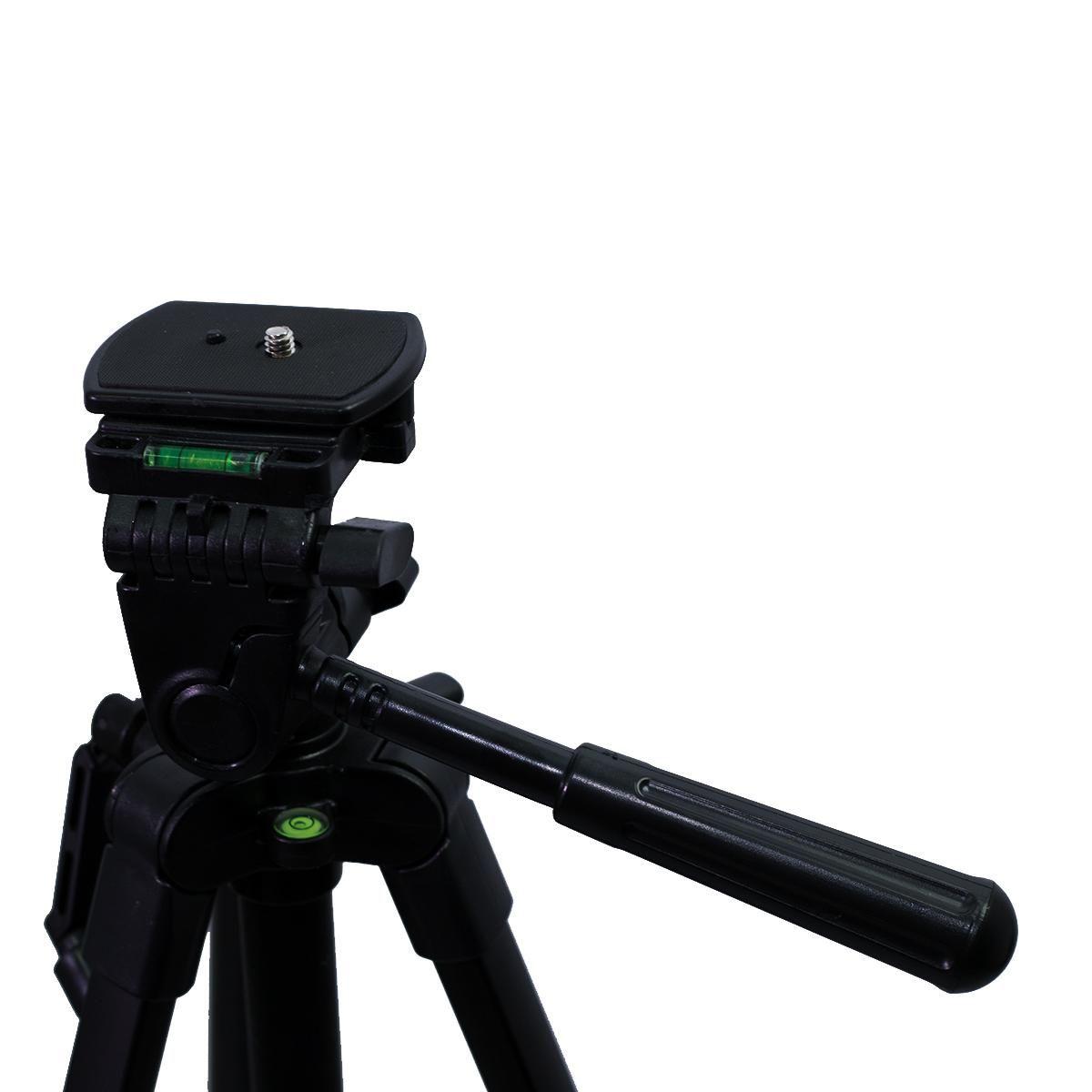 Tripé Nest KT-2012 133cm de Altura Cabeça 3 Vias para Câmeras e Filmadoras