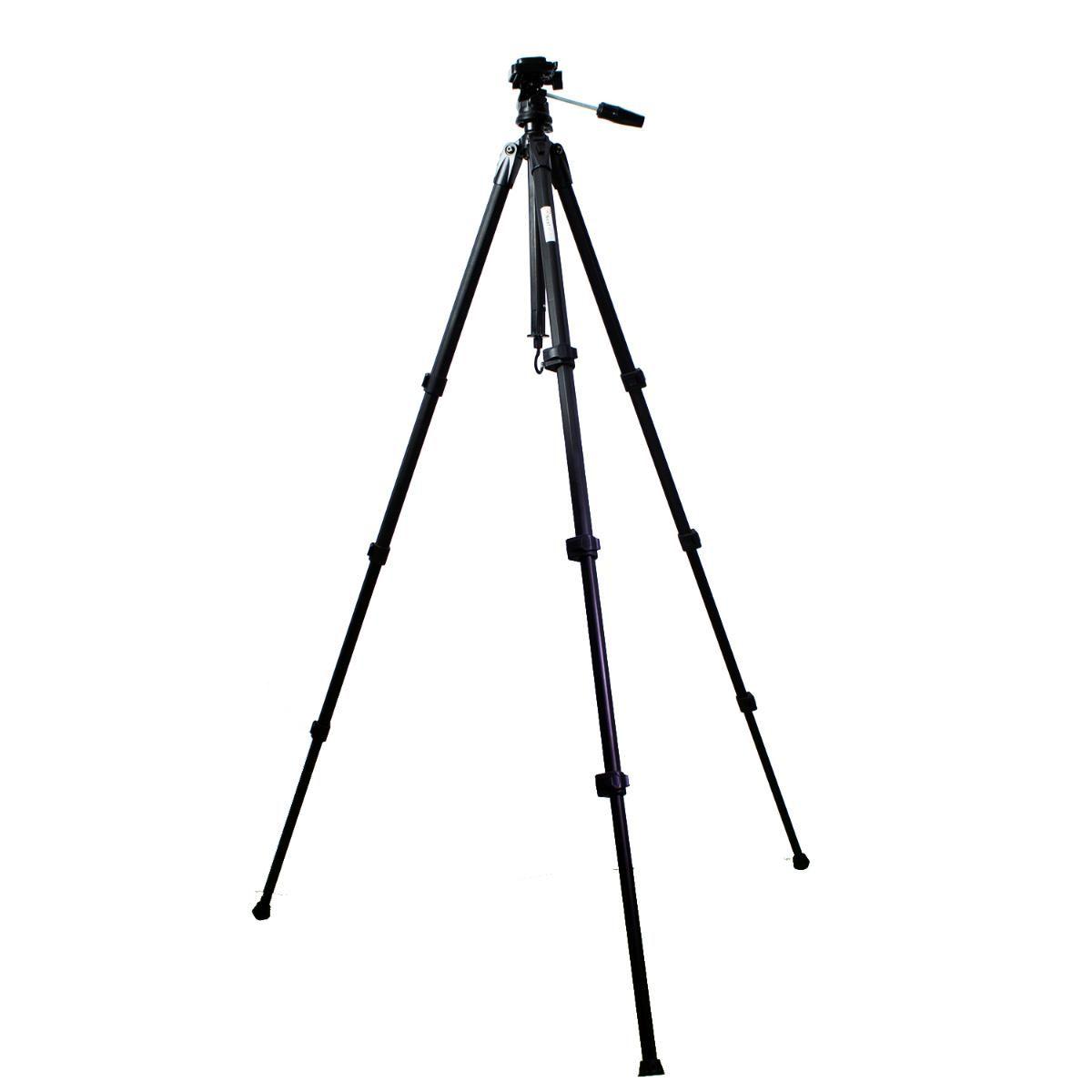 Tripé Nest KT-3014 de Cabeça Hidráulica 155cm para Câmeras e Filmadoras