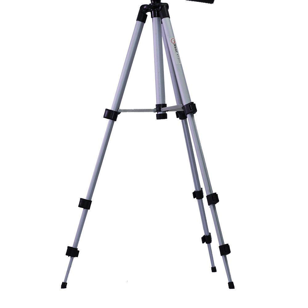 Tripé Nest KT-3111 106cm de Altura Cabeça 3 Vias para Câmeras e Filmadoras