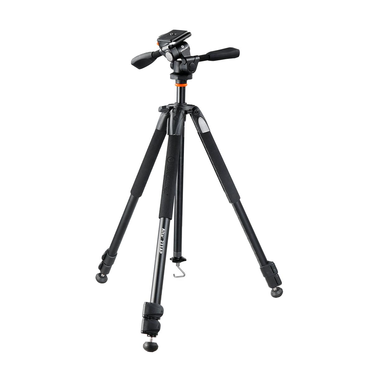 Tripé para Câmera com Cabeça de 3 Vias Vanguard 233AP 160cm para Fotos e Vídeo  - Fotolux
