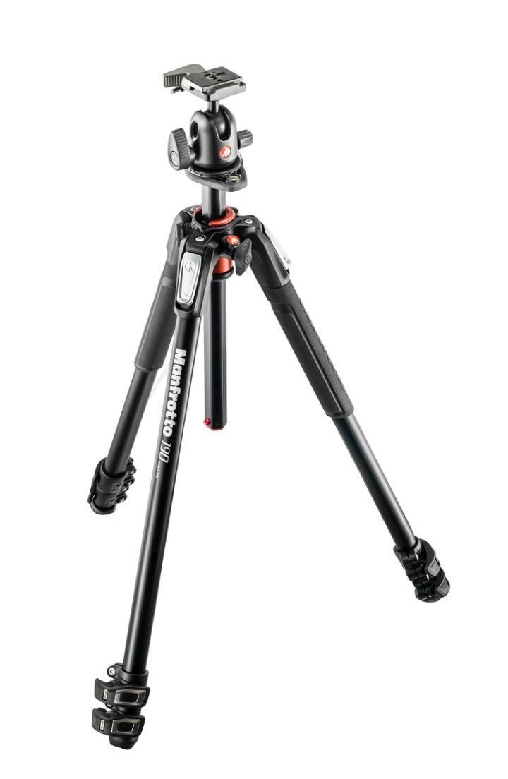 Tripé Profissional de Câmera Manfrotto Mk190xpro3-bh, 170cm
