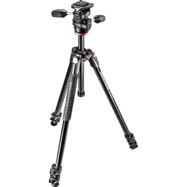 Tripé Profissional Manfrotto 171cm MK290XTA3-3W com Cabeça para Câmera Fotográfica   - Fotolux