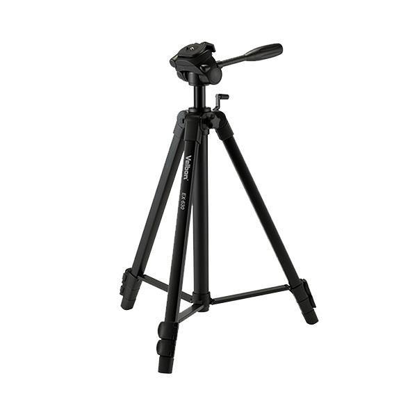 Tripé Velbon EX-630 168cm Cabeça 3 Vias para Câmeras e Filmadoras