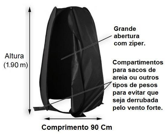 Trocador Vestuário Portátil 1,90m para Fotos Externas - Greika  - Fotolux
