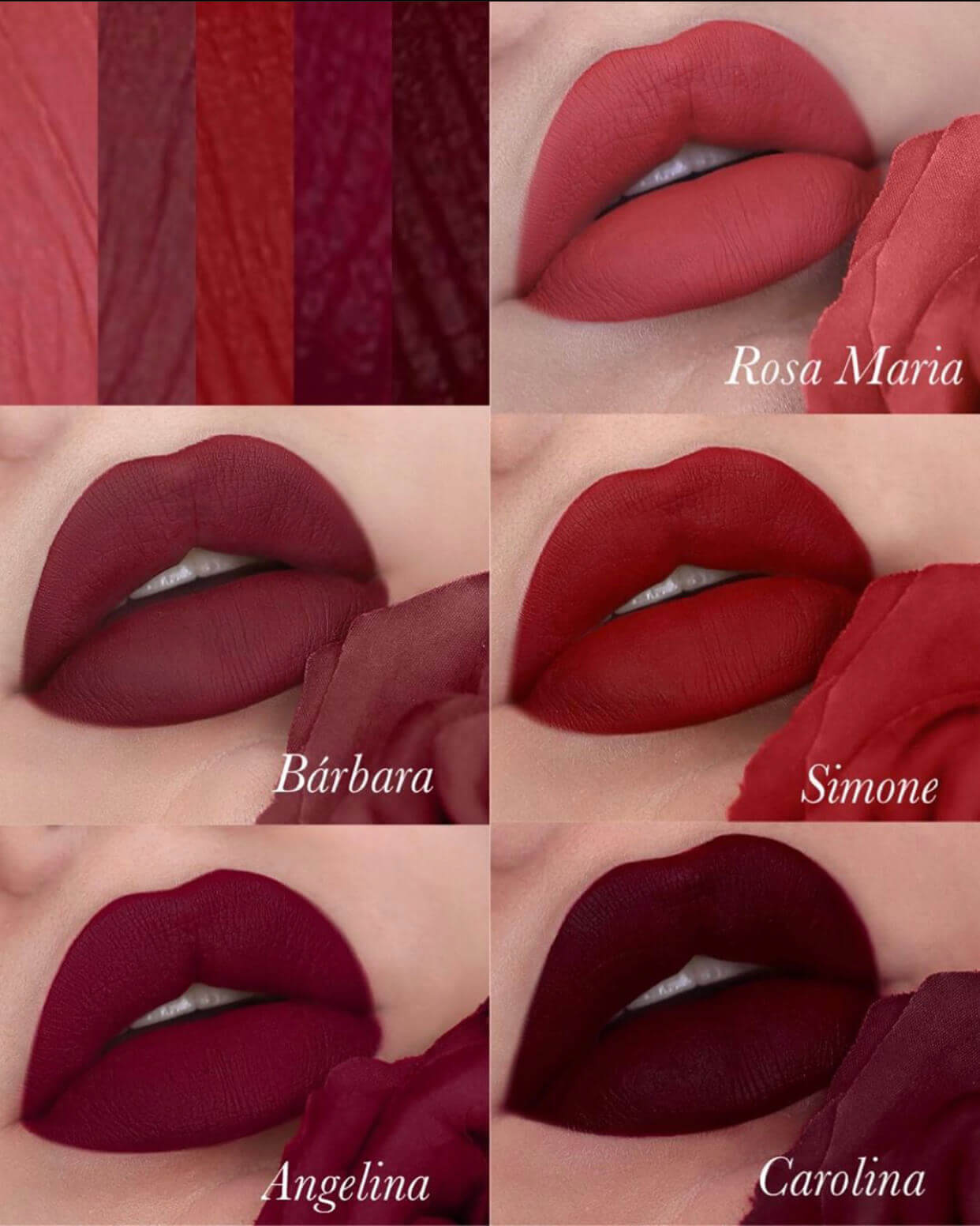 Batom Líquido Matte Red Rose Bruna Tavares - 4ml