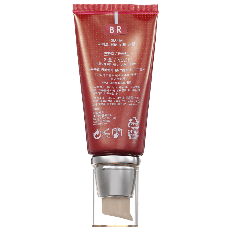 BB Cream Missha 21 - M Perfect Cover Light Beige 50ml
