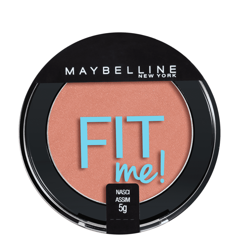 Blush Fit Me! Maybelline 03 Nasci Assim - Blush Cintilante 5g