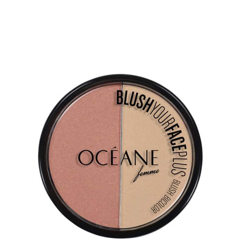 Blush Your Face Plus Coral Peach Océane - Blush em Pó 9,3g