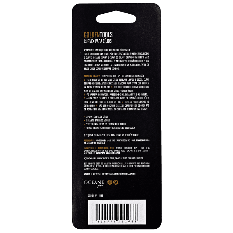 Curvex Golden Tools Océane - Curvador de Cílios