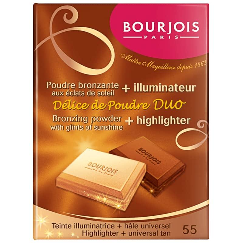 Delice de Poudre Duo Bourjois - Paleta Brozer e Iluminador 16,5g