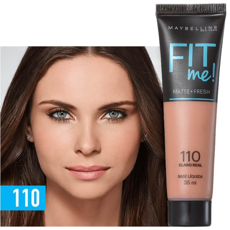 Fit Me! Toque Matte + Fresh Maybelline 110 - Base Líquida 35ml