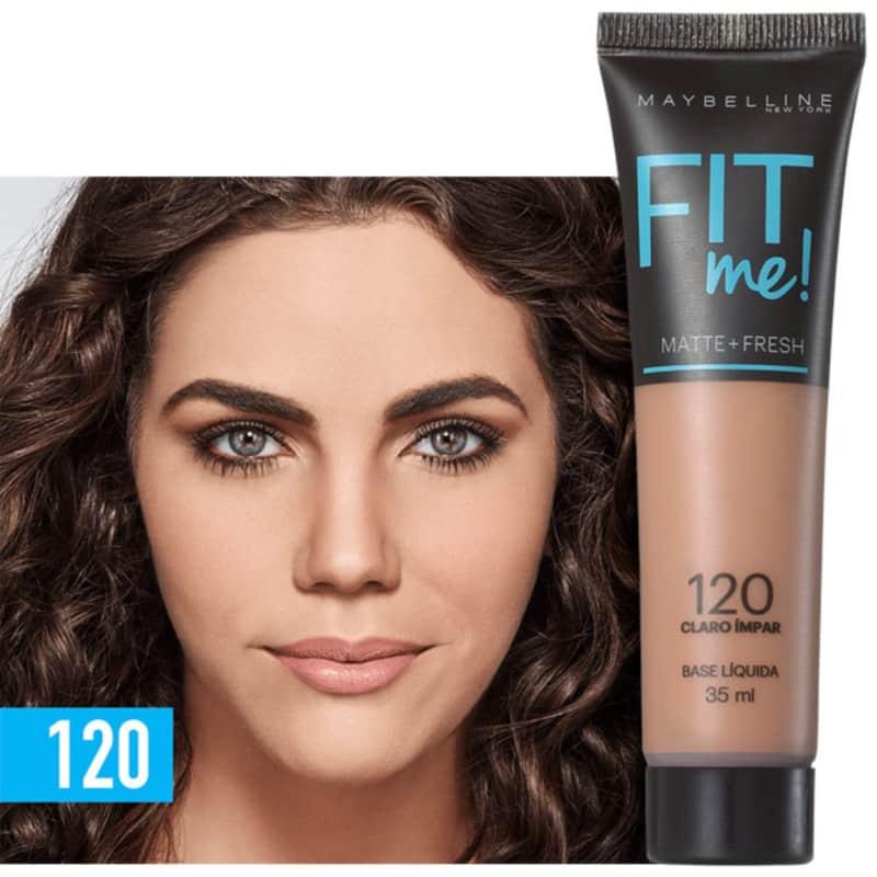 Fit Me! Toque Matte + Fresh Maybelline 120 - Base Líquida 35ml