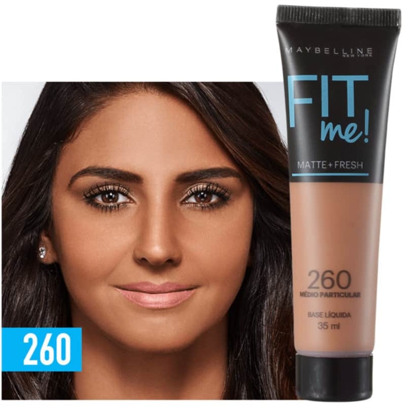 Fit Me! Toque Matte + Fresh Maybelline 260 - Base Líquida 35ml