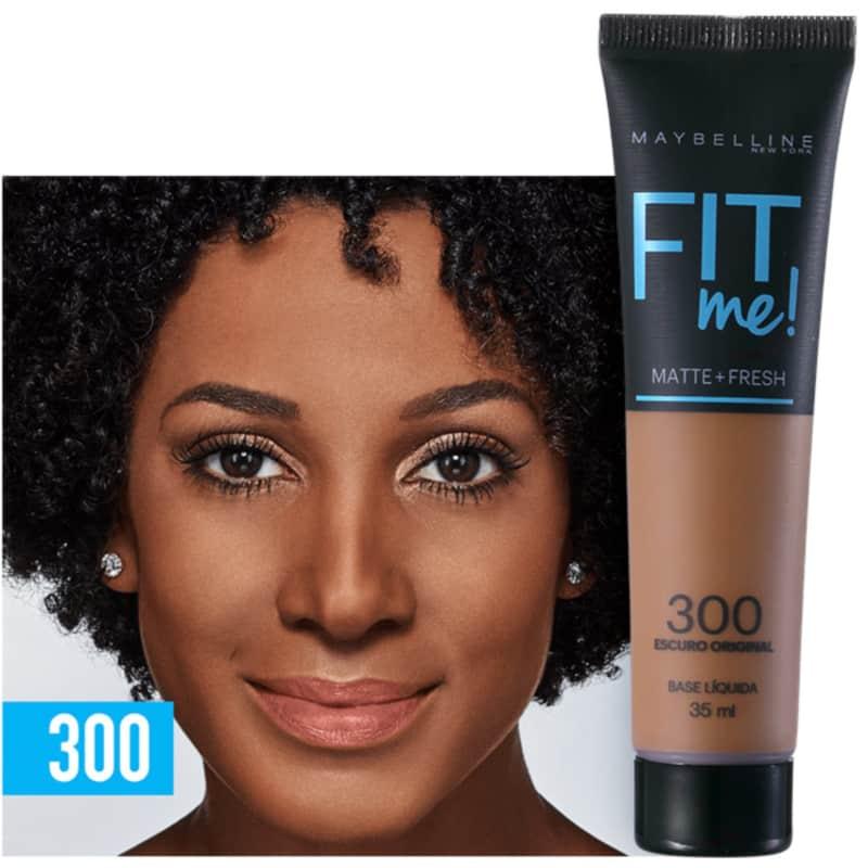Fit Me! Toque Matte + Fresh Maybelline 300 - Base Líquida 35ml