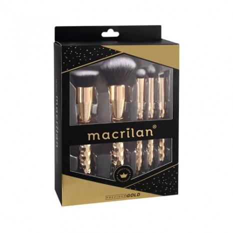Kit com 5 Pincéis Profissionais Gold - ED006 Macrilan
