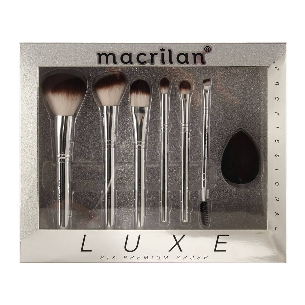 Kit com 6 Pincéis Profissionais Luxe - ED002 Macrilan