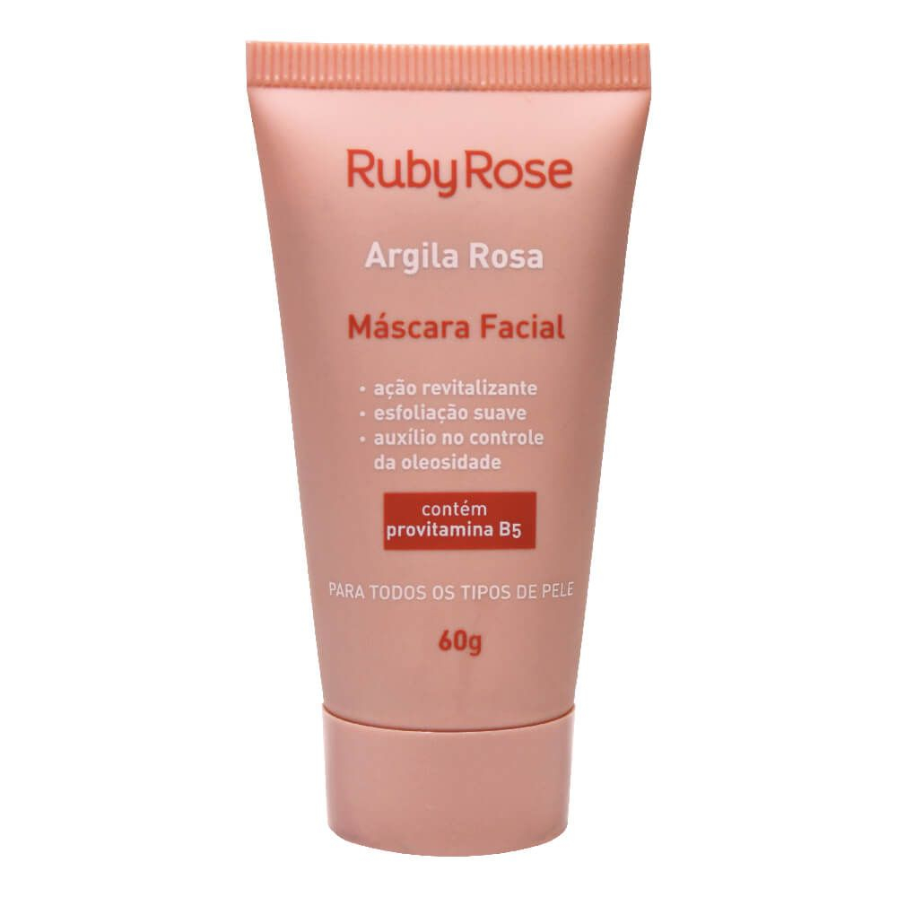 Máscara Facial Argila Rosa - Ruby Rose 60g