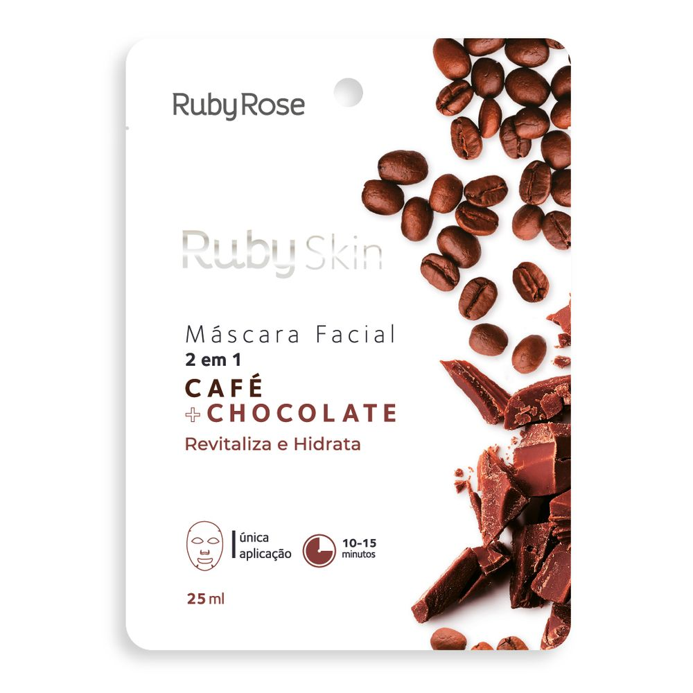Máscara Facial Café e Chocolate - Ruby Rose